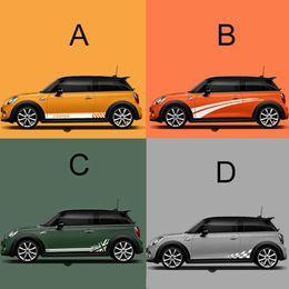 2020 adesivi del paese Car Side Skirt Body Decalcomanie Refit Decorazione Esterna Per MINI Cooper S One Countryman F54 F55 F56 F60 R55 R60 Accessori adesivi del paese economici