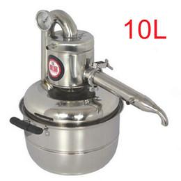 cobre rca plugs Desconto Chegada Nova 10L água álcool Distiller Home Brew Kit Wine Distiller caldeiraria Óleo Essencial