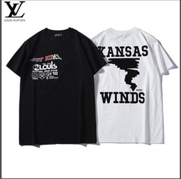 be4a747c Spring 2019 round neck pure cotton T-shirt with front and back monogrammed  pattern is suitable for men and women street fashion trend affordable t  shirt ...