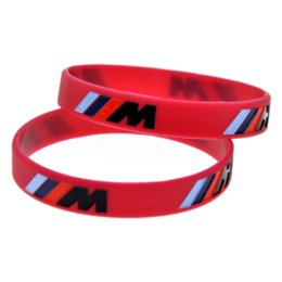 Power sport armband online-Auto styling 1 stücke Logo Gravieren Hologramm Armbänder Sport M Power Silikon Armband Bangles Für BMW Club Fans M3 M5 M6 3/5/7 Serie