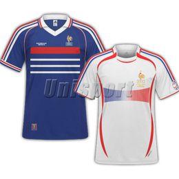 b85e15607307a9 S-XXL WM 1998 Retro Francia Fußball Trikots Zidane Henry Vintage Futbol  Camisa Fußball France Camisetas Französisch Shirt Kit Maillot