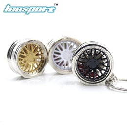 car nos Promo Codes - Car Wheel RIM keychain Car wheel Nos Turbo keychain key ring metal with Brake discs