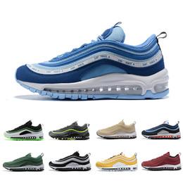 новейшие кроссовки Скидка nike Air Max 97 shoes 2019 Neon Seoul Dallas Men Women running shoes UL Laser Orange Panda Pigeon Bio Beige sports sneakers 36-45