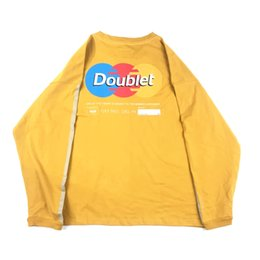 f4e433458ed7 Men New DOUBLET Autumn Tshirts Men Designer Yellow Black Grey Bottoming  Tops TEE OS Loose Tshirts