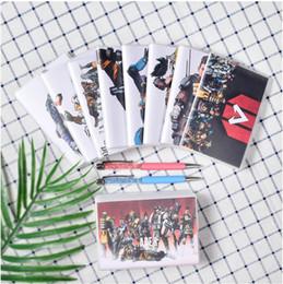 libro vuoto hardcover Sconti Taccuino Apex Legends Kids Adult 72 fogli portatile settimanale settimanale organizzatore diario di viaggio con manico in gomma scuola regalo stazionario
