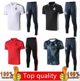 Soccer shorts free shipping on-line-2019 Real Madrid manga curta polo camisa de treinamento de futebol terno 19/20 kit camisa de manga curta frete grátis ASENSIO ISCO camisa de futebol kit