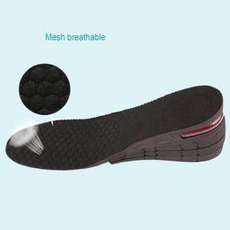 Semelles noires femmes en Ligne-Taille douce PU Augmenter Pad chaussures 4 couches chaussures réglable Semelle intérieure -réduction Black Lift pour les femmes et chaussettes pour hommes