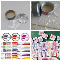 Argentina 11 sabores SmartBud Máquina de latas selladas 3.5 gramos Smart bud jar tanque flor de hierba seca Embalaje con 11 etiquetas de sabor Lables Suministro