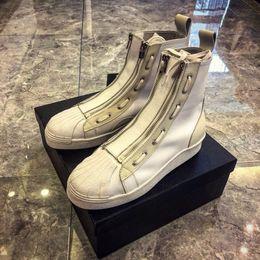 2019 botas de hip hop para hombres Midbarrel Martin Boots Moda Short Barrel Otoño e Invierno Chao Brand Hip Hop Hombres Botas Peluquería Chao Shoes Cremallera Panel superior rebajas botas de hip hop para hombres