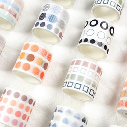 4cm * 3m Farbige Punkte Washi Band DIY Dekoration Scrapbooking Planer Klebeband Klebeband-Label-Aufkleber von Fabrikanten
