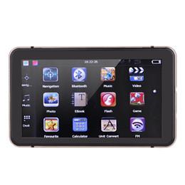 """2019 caja dvb t2 Freeshiping 7 """"Pantalla táctil de alta definición con pantalla táctil para automóvil, navegación por GPS, 128MB RAM, 4GB, video FM, juego Champagne Gold Navigator con Bluetooth + Mapa gratuito"""