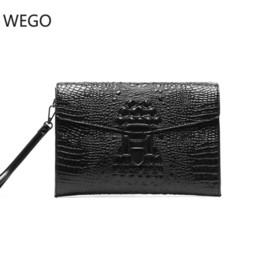 2025d847d Bolso de cuero con diseño de cocodrilo de moda bolso de embrague con sobre retro  Bolso de los hombres jóvenes Versión coreana de la nueva tendencia de ...