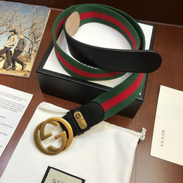 Ceinture en tissu vert en Ligne-Série de ruban de tissu vert vert rouge officiel authentique vert vert avec boucle en or boîte