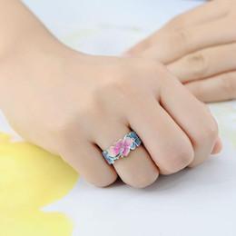 farfalla topaz Sconti Regalo di fidanzamento di cerimonia nuziale dei monili dell'anello della fascia delle donne del topazio bianco della farfalla d'argento di Fashon 925 Formato degli Stati Uniti 5-10