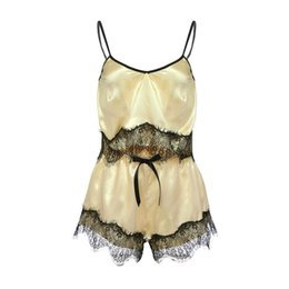 2019 passione di lingerie Sleepwear Women Lace Sexy Passion Lingerie Babydoll G-string Nightwear Sleepwear Set A # 17 passione di lingerie economici