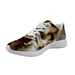 Weight shoe on-line-Light Weight Men Casual customizável Sneakers Mito Pintura de arte impressa fundo White Male respiráveis ​​Shoes Peter Paul Rubens
