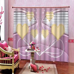 tende della camera da letto viola Sconti Personalizza dimensioni Tenda della decorazione della camera da letto per amore Viola Fiori Camera da letto Soggiorno Tenda 3D per hotel