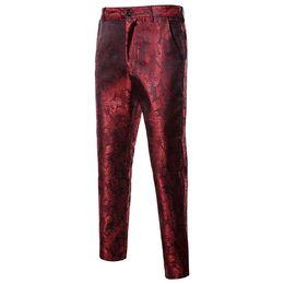 2019 vestiti di promenade di fase Pantalone Homme Pantalon Homme - Pantaloni da uomo in cotone rosso con paillettes per uomo sconti vestiti di promenade di fase