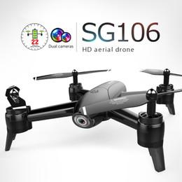 2019 Yeni Varış SG106 RC Drone Optik Akış 1080 P HD Çift Kamera Gerçek Zamanlı Hava Video RC Quadcopter Uçak Konumlandırma RTF nereden