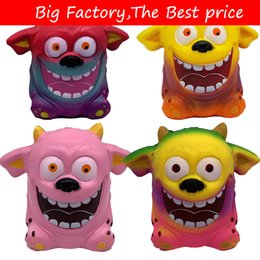 Niños grandes juguetes online-Squishy Toys Creative Cartoon Colorful Demon Squishy Slow Rising Squeeze Toys Halloween Big Ear Monster Boy Girl Toys Regalo lol