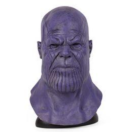 fabrication de masque pour enfants Promotion 4 Fin de match Infinity Gauntlet Cosplay Thanos Masque Marvel Super-héros Cos Masques Halloween Collection De Props