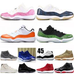 promo code eaa4a 6eac9 nike jordan retro 11s Jumpman 11s Herren-Basketballschuhe Niedrig Hoch Neu  Concord 45 Platinfarbton Space Jam Schwarz Gym Rot XI Designer Sneakers  Herren ...