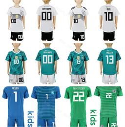 6c2beff77 Youth Germany Soccer Jerseys Set 13 MULLER 10 OZIL 17 BOATENG 23 GOMEZ 7  DRAXLER 11 REUS Kids Football Shirt Kits Children cheap youth soccer jersey  xl