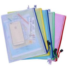 2019 sacs imperméables en plastique iphone A4 A3 B4 B3 Étanche En Plastique Zipper Papier Dossier Dossier Livre Crayon Stylo Étui Sac Fichier document sac Téléphone sac pour bureau fournitures d'étudiant sacs imperméables en plastique iphone pas cher