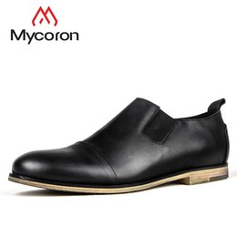 MYCORON 2018 New Spring Autumn Boots Genuine Slip-On Leather Men Shoes  Luxury Italian Brand Mens Shoes Sapatenis Masculino 2e3ef9f18cc4