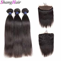 2019 trame de cheveux bohème Bundles de cheveux vierges brésiliens avec fermeture frontale 13X4 100% de cheveux humains tissent 3 faisceaux avec fermeture frontale