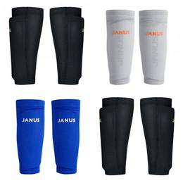 almofadas do convés Desconto Caneleiras de Futebol Futebol Knee Pads Sports Calf Socks Homens Ventilação Profissional de Malha Double Deck Cores Mix 25 17yx f1