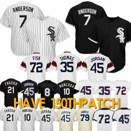 Baseball on-line-7 Tim Anderson Chicago jersey branco 10 Yoan Moncada assim Baseball Jerseys