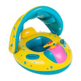 Gonfiabili infanzia anelli di nuoto online-Estate scherza la sicurezza galleggiante di nuotata piscina anello di giocattoli gonfiabili nuotata Anello sede della barca del Bambino dell'acqua Galleggiare Yacht