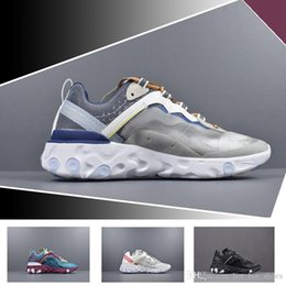 23293abf6c79 2018 Epic React Element 87 Undercover Men Running Shoes For Women Designer  Sneakers Sports Mens Trainer Shoes Sail Light Bone Sneakers 36-45