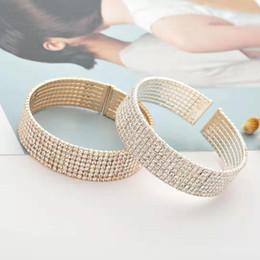 2019 brazalete de latón africano cadena de tenis de diamantes brazalete joyería de diseñador de lujo pulseras para mujer rhinestones de aleación de plata dorada pulsera para mujer regalos para novia bff