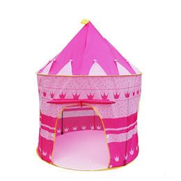 mädchen spielen zelte Rabatt Tragbares Klappspielzelt Kinder Mädchen Jungen Kinder Spielhaus (pink)