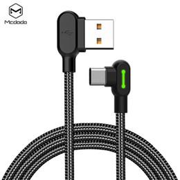 carregadores de cabo de telefone Desconto MCDODO Micro USB Cabo Para Tipo-C Cabo de 90 graus Cabo De Carregamento Rápido Adaptador de Cabo de Carregador de Telefone Móvel jogo usb