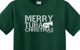 Argentina Merry Tuba Christmas TUBACHRISTMAS Camiseta Concert Pin Holiday Hat Band ConcertFunny envío gratis Unisex Casual top cheap holiday pins Suministro