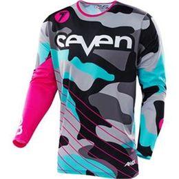 2018 Riding Jersey Motocross Siete motocross jersey mx ropa cuesta abajo mtb bicicleta de montaña camisa equipement moto cruz ropa Rac desde fabricantes