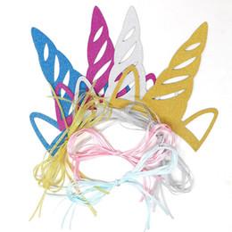 2019 suministros de fiesta de cumpleaños para adultos Unicornio Glitter sombreros de cumpleaños moda lindo Shimmering Party Supplies decoración del partido cumpleaños sombrero para adultos niños PPA230 rebajas suministros de fiesta de cumpleaños para adultos