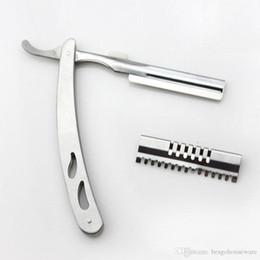 Argentina Durable cuchillo de corte de pelo de acero inoxidable profesional Unisex portátil Razor Sharp Hombres Cómodo manual de plata Shaver Razors BH0849 TQQ Suministro