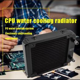 2019 patatine d'acqua Radiatore di raffreddamento ad acqua CPU 12S-8 da 120 mm CPU 18 tubi Alluminio Protezione ambientale Cottura Vernice Trattamento Radiatore chip per computer patatine d'acqua economici
