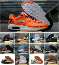 sports shoes 12748 9dc43 2019 New 1 87 DLX Air ATMOS Casual Shoes Animal Pack 1s 87s Leopard gra Men  Maxes Women Classic Athletic Zapatos Trainers size 36-45