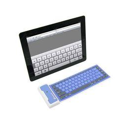 teclado bluetooth para teléfono móvil Rebajas Bluetooth inalámbrico suave teclado de silicona plegable portátil a prueba de agua portátil universal para computadora portátil Tablet PC Ipad Iphone Samsung Smart teléfono móvil