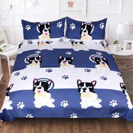 california king size juegos de cama 3d Rebajas fundas de almohada funda nórdica azul Barro-perro BEST.WENSD 3d california juegos de cama king size de dachshund consolador del lecho de lujo edredón-set