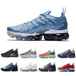 new styles 99c3f dcbe7 Nike Air Vapormax TN Plus Più nuovo Fades Work Blue TN Plus Uomo donna Scarpe  da corsa Pure Platinum Bright Crimson Hyper Rainbow Mens Volt Wolf Grigio  ...