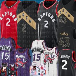 db0ceae99d51 NCAA Kawhi   Leonard Retro University Vince 15 Carter Jersey Kyle 7 Lowry  bordado camisetas de baloncesto Pascal negro   Siakam