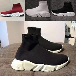 2019 meias originais Balenciaga Sock shoes Luxury Brand Velocidade Runner Knit Original Running Shoes Trainer Tênis Corrida Dos Homens Das Mulheres Sapato Esportes Sem Caixa Eur 36-45 meias originais barato