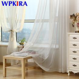 billige bildschirme Rabatt Silber-Draht-Streifen Voile-Vorhang Schlafzimmer-Fenster-Bildschirm Leinen bloßen Vorhang für Wohnzimmer Pure White Tulle Cheap Custom M135D3