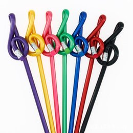 Высокочастотная нота онлайн-Music Treble Pencil Multi Color Музыкальная нота Карандаш Дизайнерские украшения Школа / офис Канцтовары Музыкант Подарки